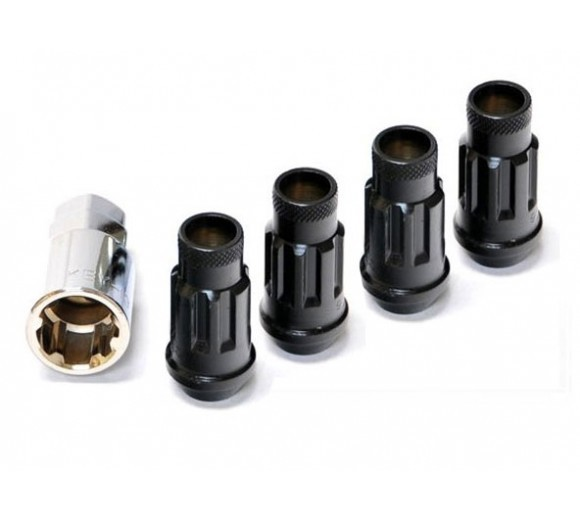 Muteki SR48 Lock Nut Set - Black (12X1.25)