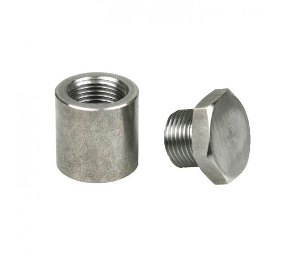 Stainless Steel Extended 1in Oxygen Sensor Bung w/Plug