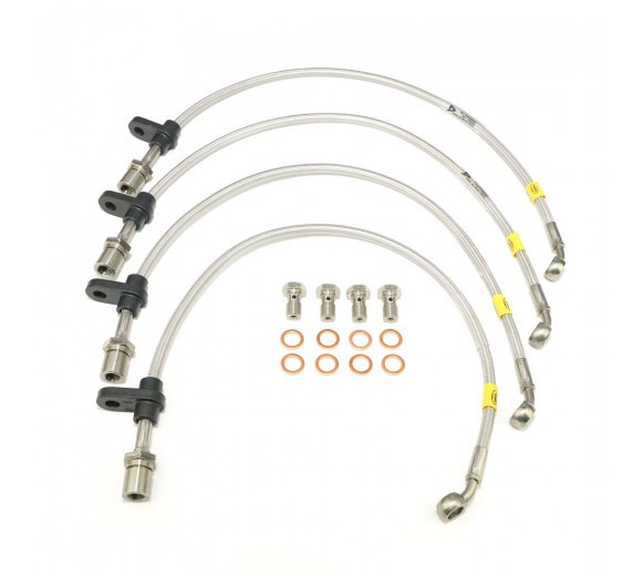 Braided Brake Lines Kit (WRX 08-14/STi 08-18)