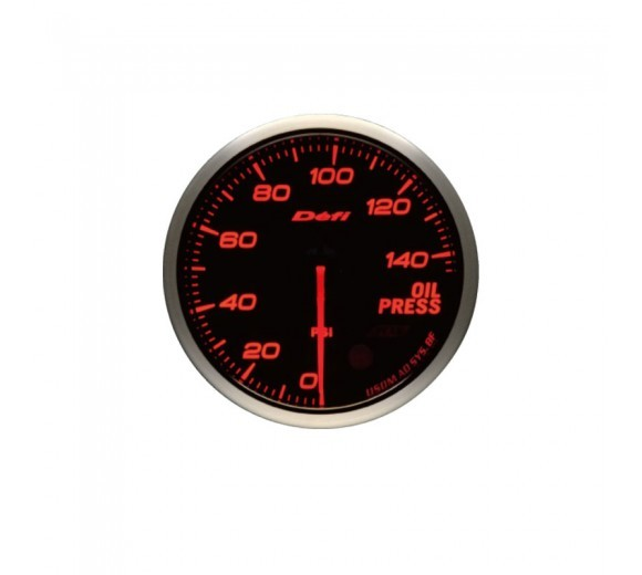 Advance BF Oil Pressure Gauge - 145 psi (60mm) Red