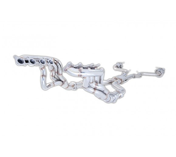 Stainless Headers W/ Twin High Flow Metal Cats (Mustang GT 15-16)