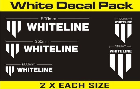 Whiteline Decal Kit - White