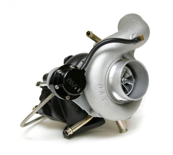 GTX Billet Ball Bearing Turbo AVO550 - Anti-Surge Cover with silicone Inlet
