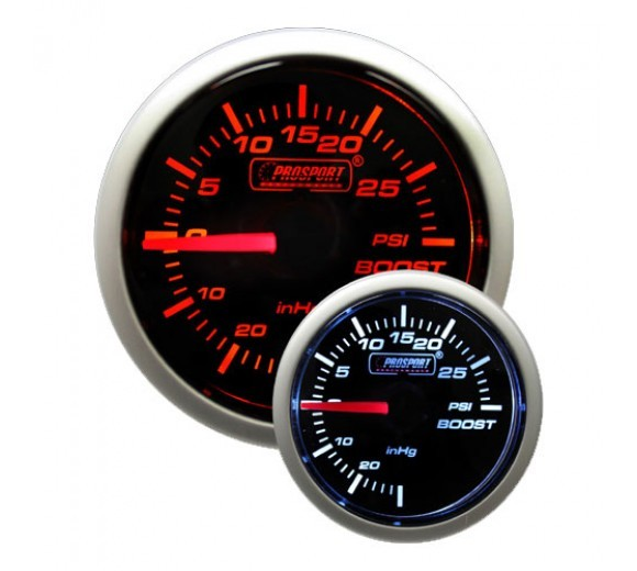 52mm Mechanical 'Performance' Boost Gauge - Amber/White