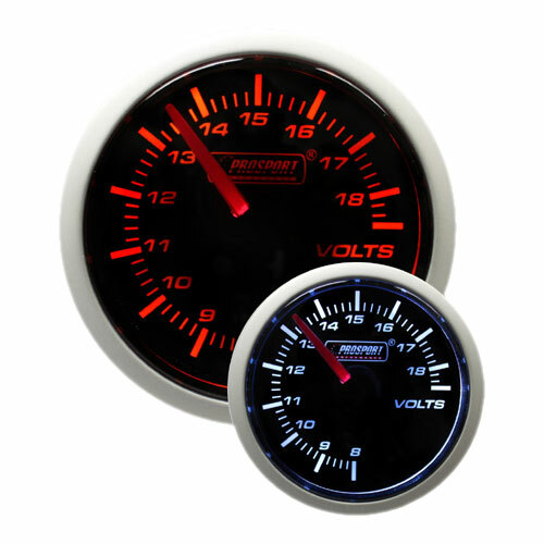 52mm 'Performance' Volt Gauge - Amber/White