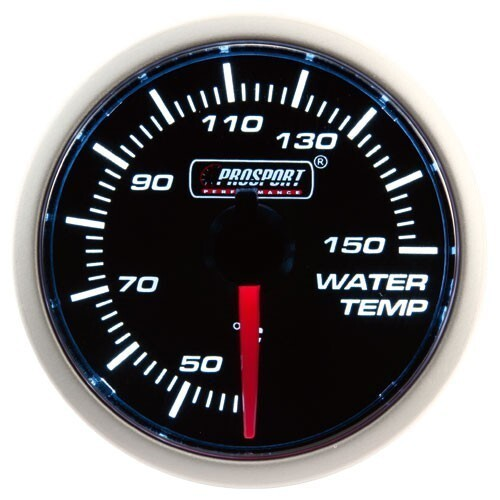 52mm Electrical 'Performance' Water Temperature Gauge - Amber/White
