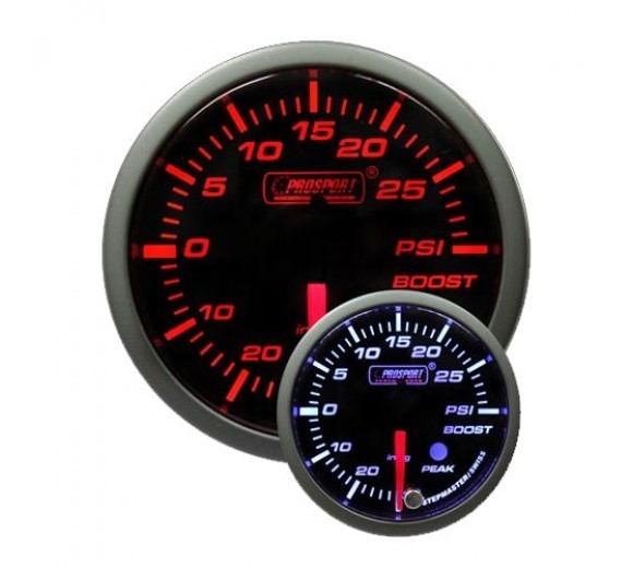 52mm Electrical 'Premium' Boost Gauge - Amber/White
