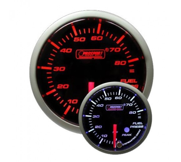 52mm Electrical 'Premium' Fuel Pressure Gauge - Amber/White