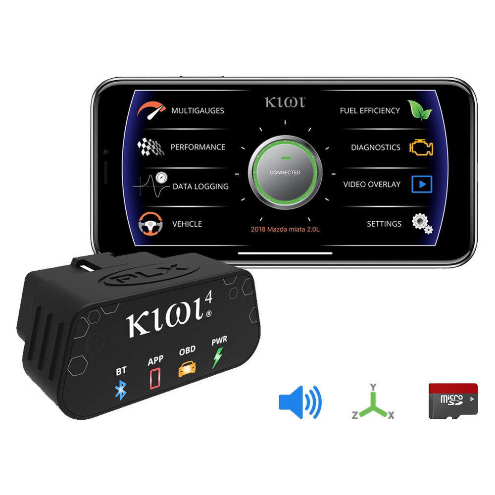 KIWI 4 Wireless OBDII Adaptor and Logger
