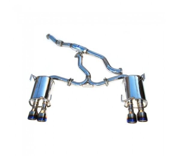 Q300 Cat Back Exhaust - Ti Tips (WRX/STi Sedan 11-14)