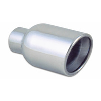 3.5in Round SS Exhaust Tip (Double Wall Resonated Angle Cut Rolled Edge)