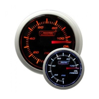 52mm Electrical 'Performance' Oil Pressure Gauge - Amber/White