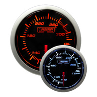 52mm Electrical 'Performance' Oil Temperature Gauge - Amber/White (Fahrenheit)