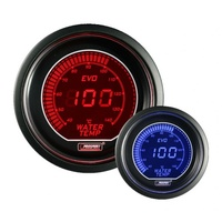 52mm 'Evo' Water Temperature Gauge - Red/Blue (Celsius)