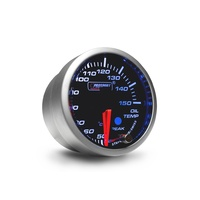 52mm 'Premium' Oil Temperature Gauge - Amber/White (Celsius)