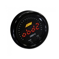 X-Series OBDII Gauge. Black Bezel & Black Faceplate