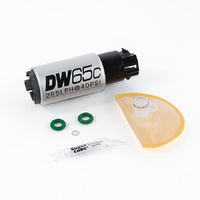 DW65C 265lph Compact Fuel Pump w/Mounting Clips + Install Kit (WRX 08-14/STi 2008+)