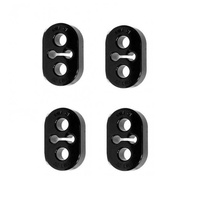 Exhaust Hangers - 15mm Black 4 piece Combo (inc. WRX/STi 94-07)