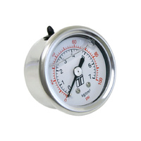 Fuel Pressure Reg Gauge 0-100psi Liquid Fill