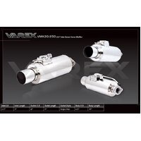 Varex Universal Cannon Muffler - 3in Inlet/4.5in Outlet