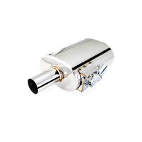 Varex Universal Oval Muffler - 2.5in Inlet/2.5in Outlet