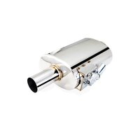 Varex Universal Oval Muffler - 3in Inlet, 3in Outlet
